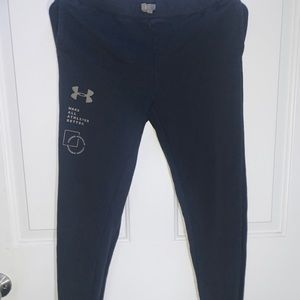 Black fitted Under Armour sweatpants